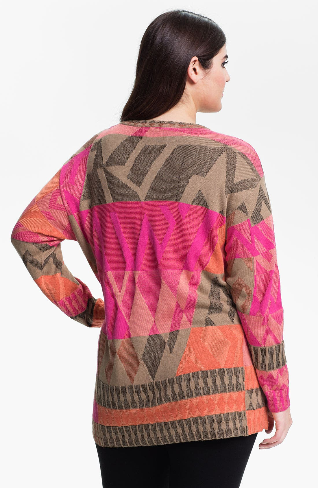 Alternate Image 2  - Nic + Zoe 'Coral Reef' Sweater (Plus)