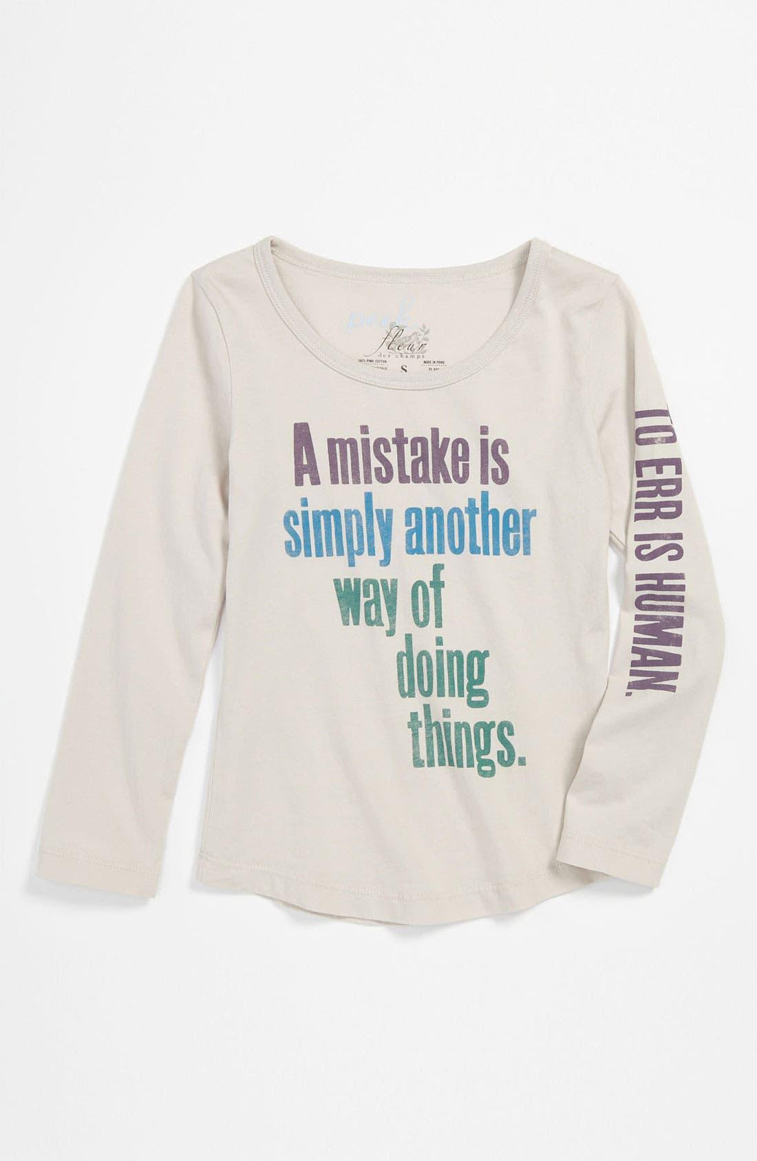 Alternate Image 1 Selected - Peek 'Mistake' Tee (Toddler, Little Girls & Big Girls)