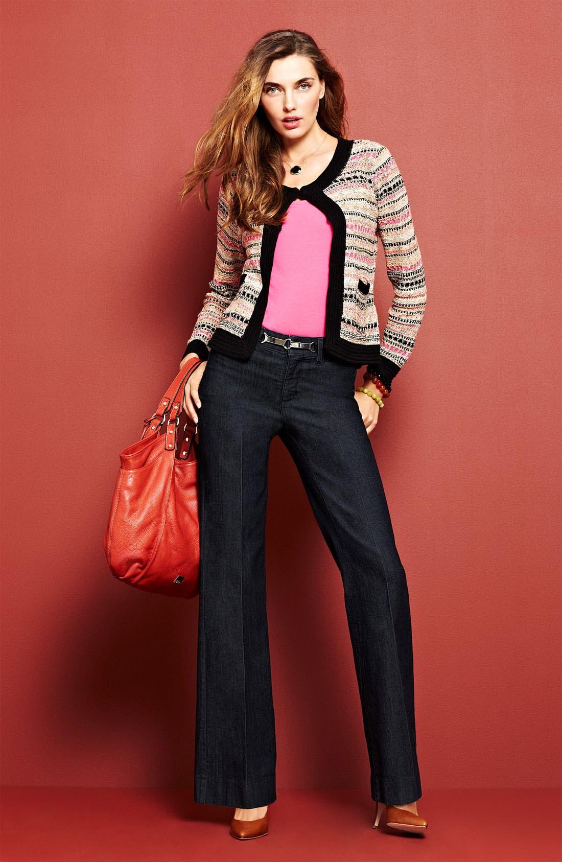 Alternate Image 1 Selected - Nic + Zoe Cardigan & Tank, NYDJ 'Greta' Jeans