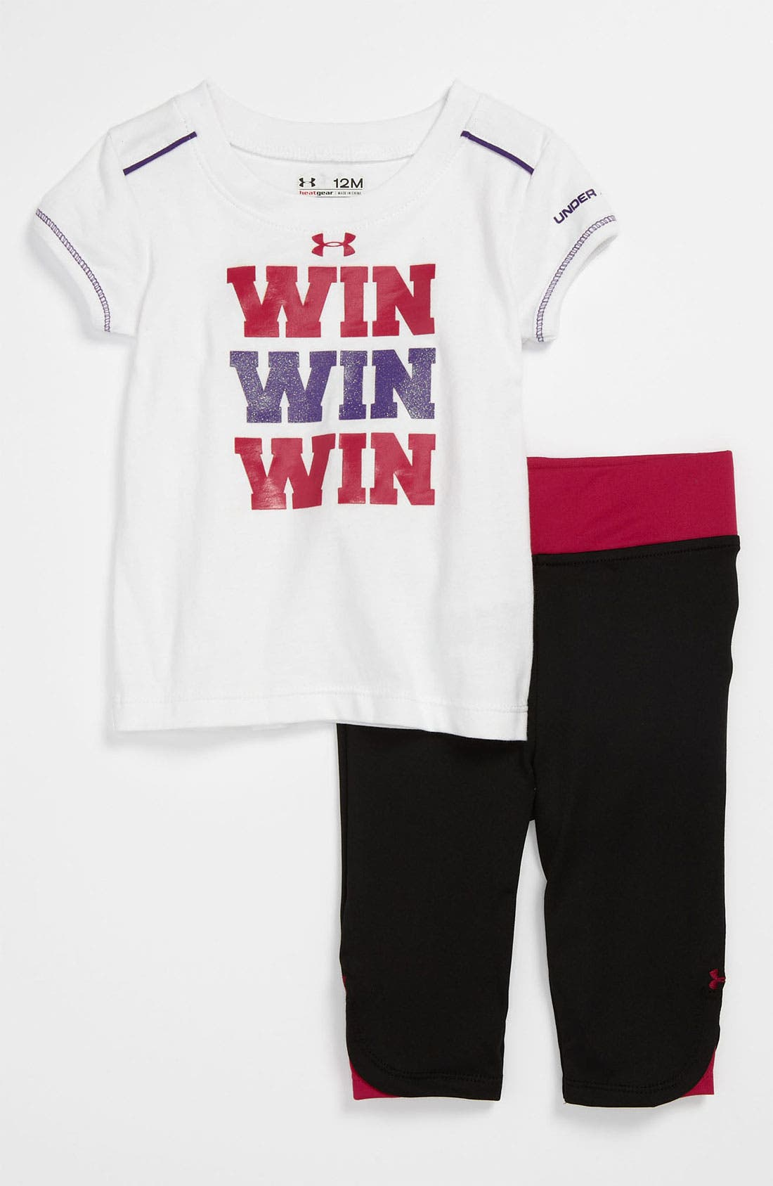 Alternate Image 1 Selected - Under Armour Tee & Pants (Baby)