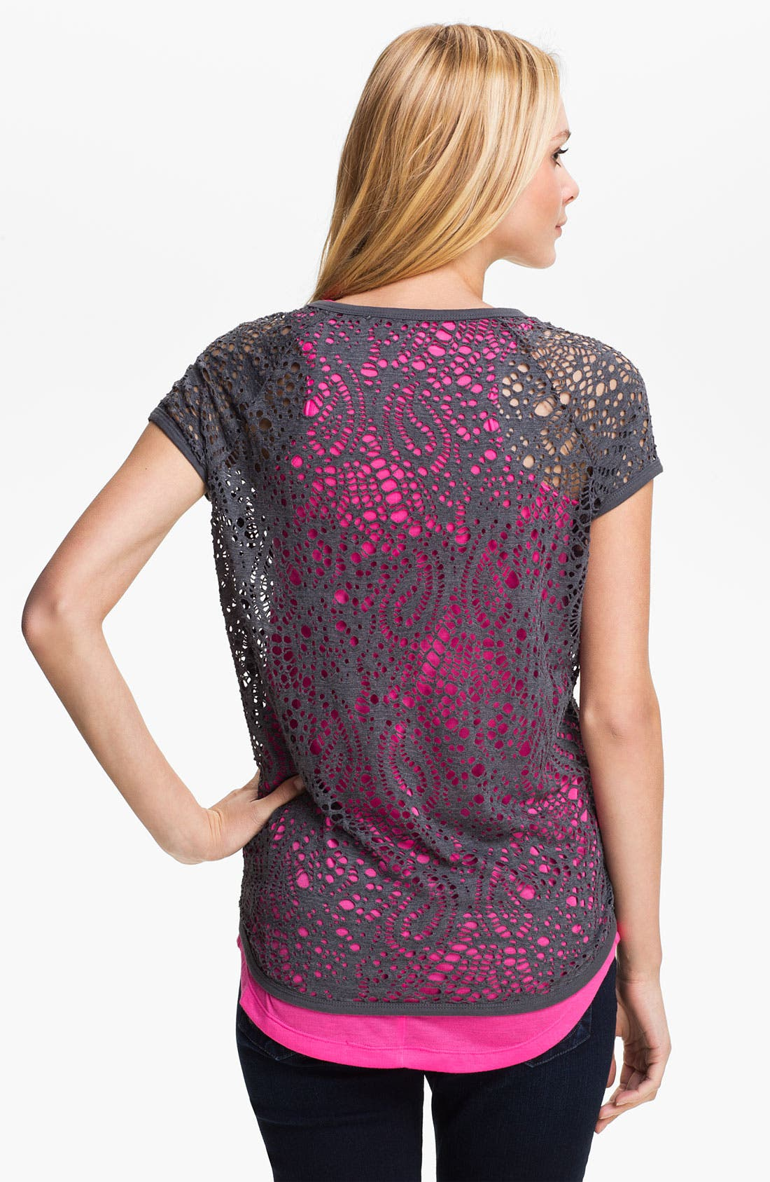 Alternate Image 2  - Two by Vince Camuto Perforated Paisley Top