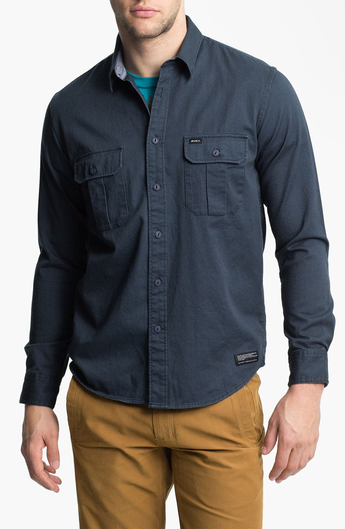 Alternate Image 1 Selected - RVCA 'Wrenchman' Woven Shirt