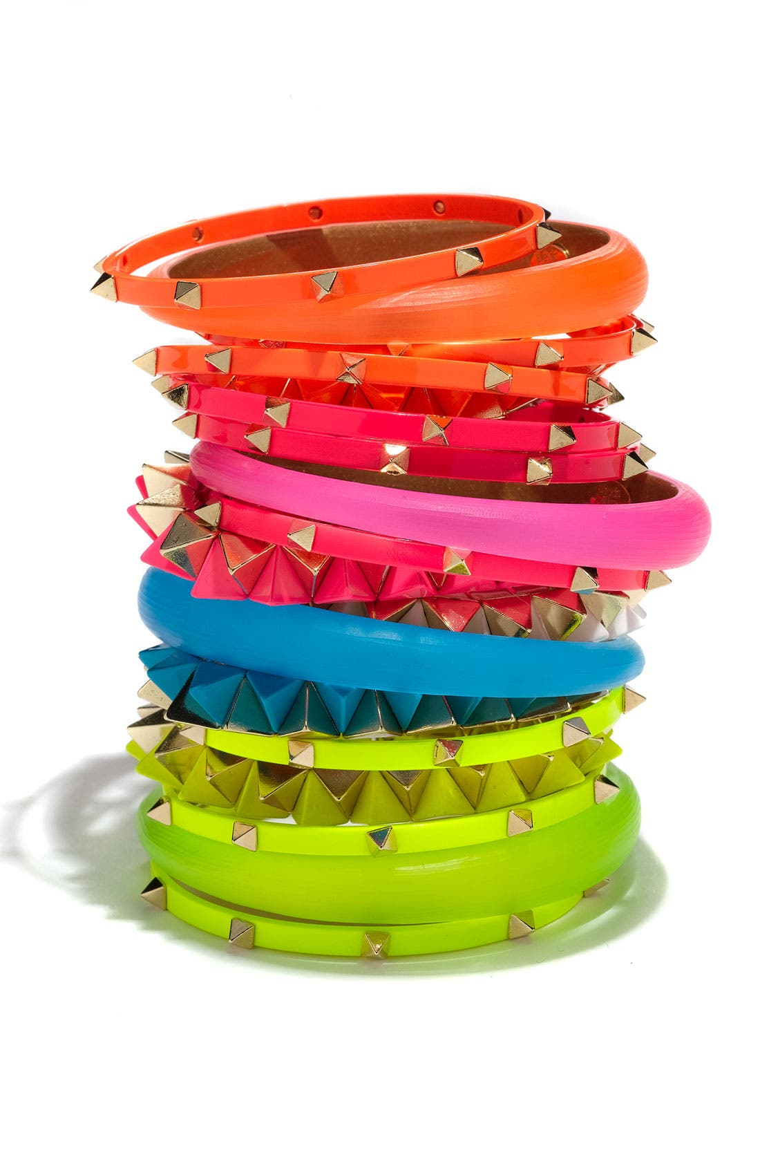 Alternate Image 3  - Cara Studded Bangles (Set of 3)