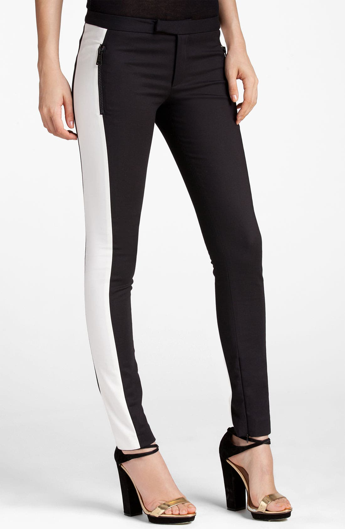 Alternate Image 1 Selected - MSGM Skinny Side Stripe Pants