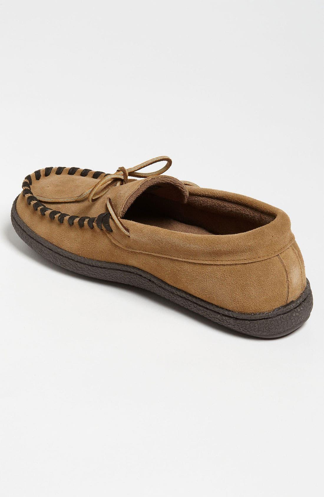 Alternate Image 2  - Tempur-Pedic® Suede Moccasin Slipper