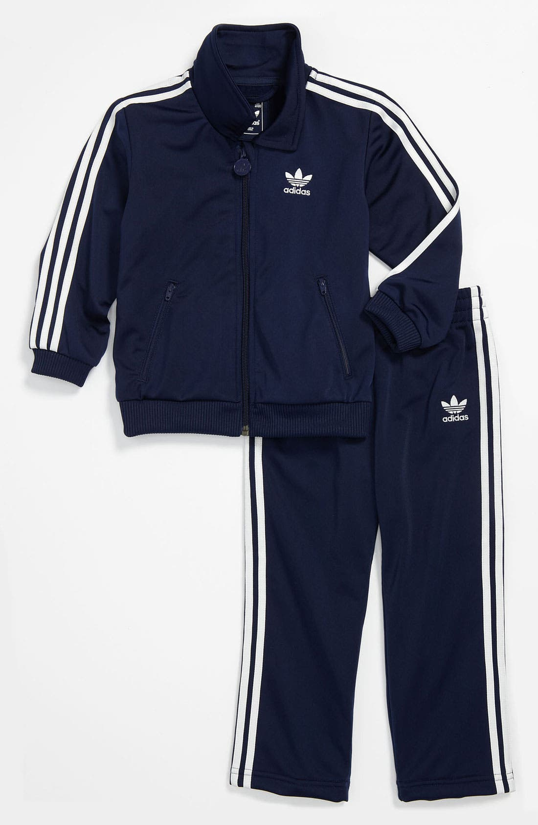 Alternate Image 1 Selected - adidas 'Firebird' Jacket & Pants (Infant)