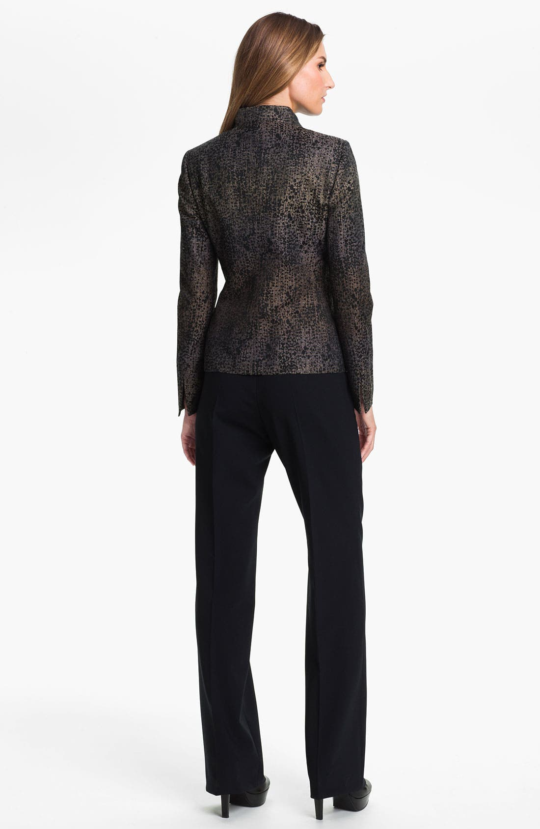 Alternate Image 5  - Santorelli 'Gina' Straight Leg Wool Trousers
