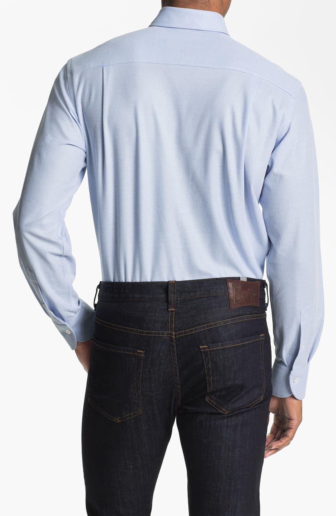 Alternate Image 2  - Canali Regular Fit Knit Italian Sport Shirt