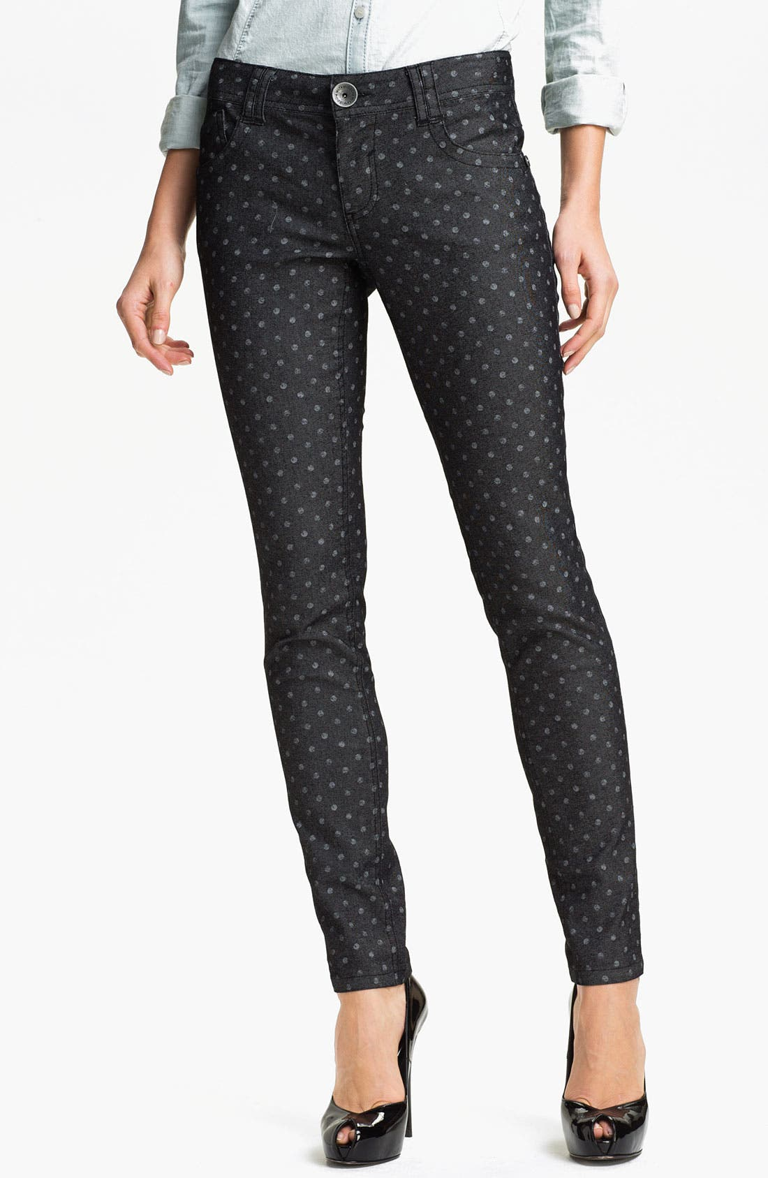 Main Image - Wit & Wisdom Dot Print Skinny Jeans (Nordstrom Exclusive)
