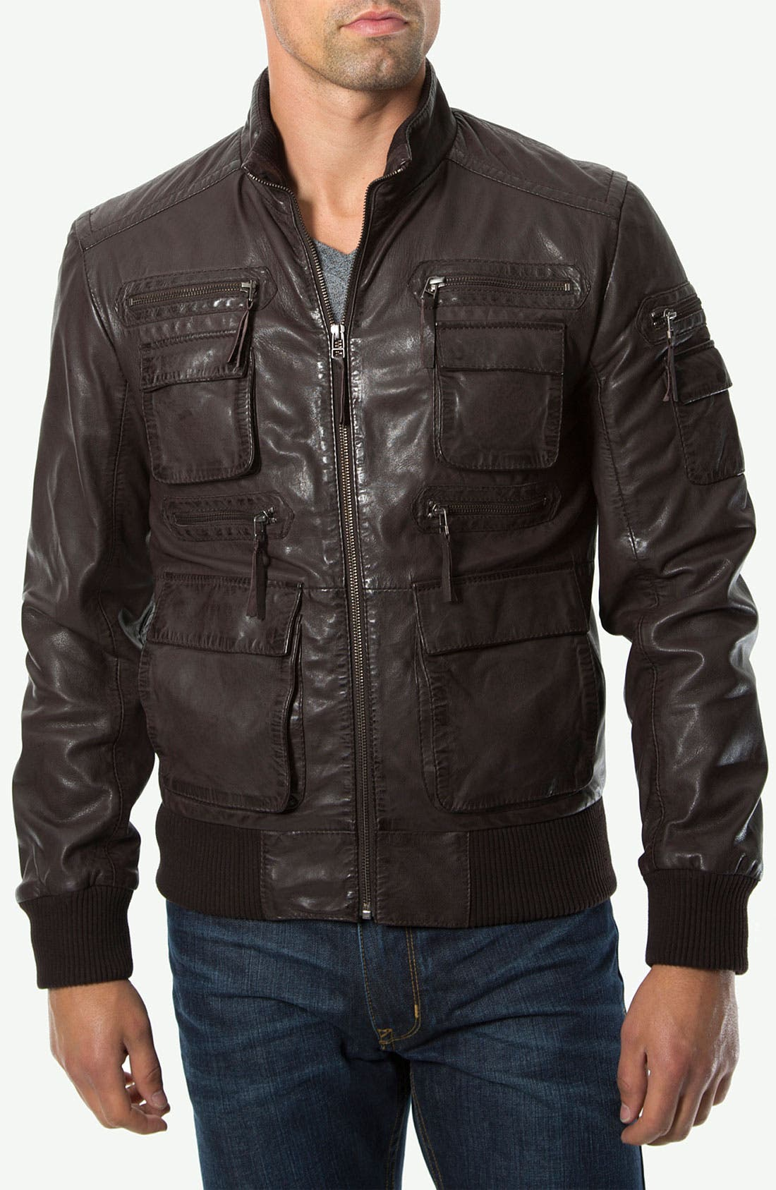 Alternate Image 1 Selected - 7 Diamonds 'Detroit' Leather Jacket