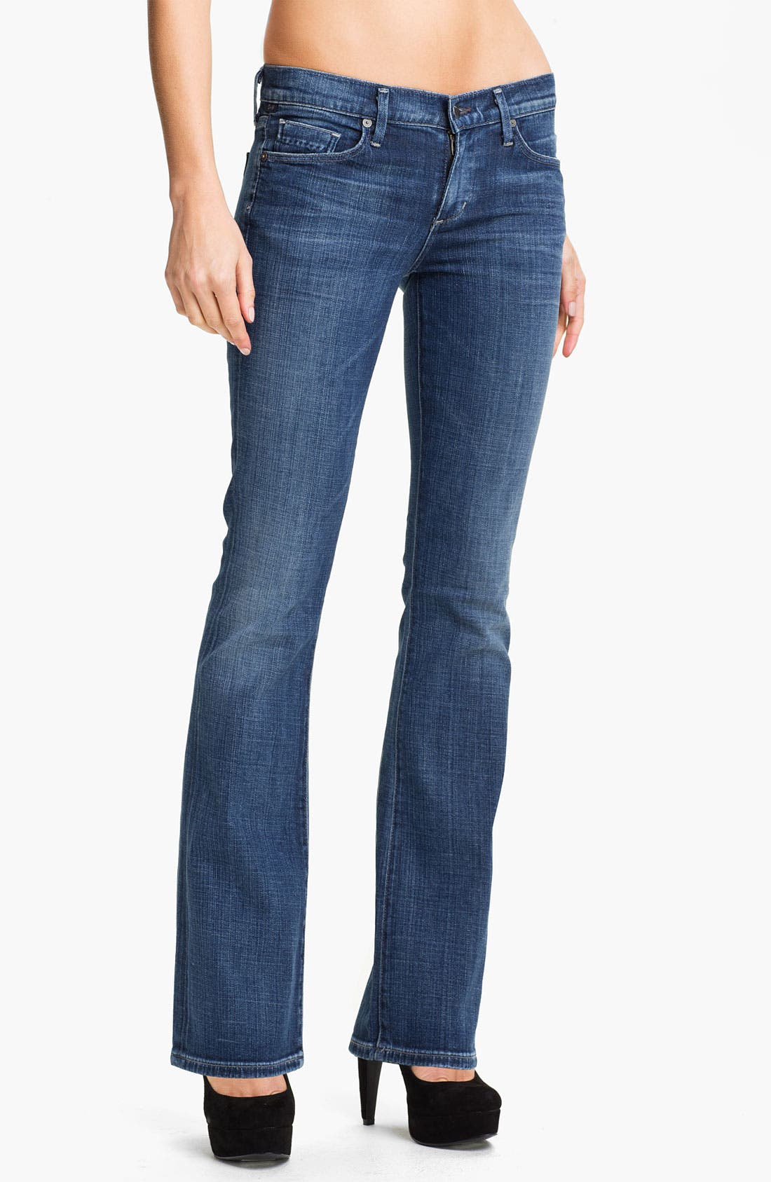 Alternate Image 1 Selected - Citizens of Humanity 'Dita' Slim Bootcut Jeans (Wedgewood) (Petite)