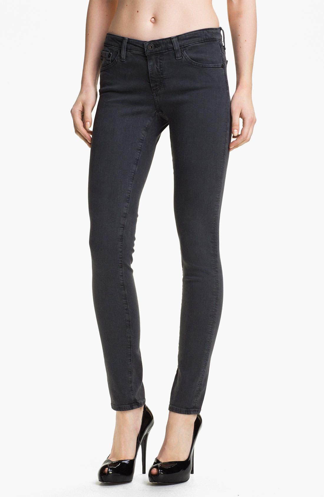 Alternate Image 1 Selected - AG Jeans 'The Legging' Super Skinny Jeans (Grey)