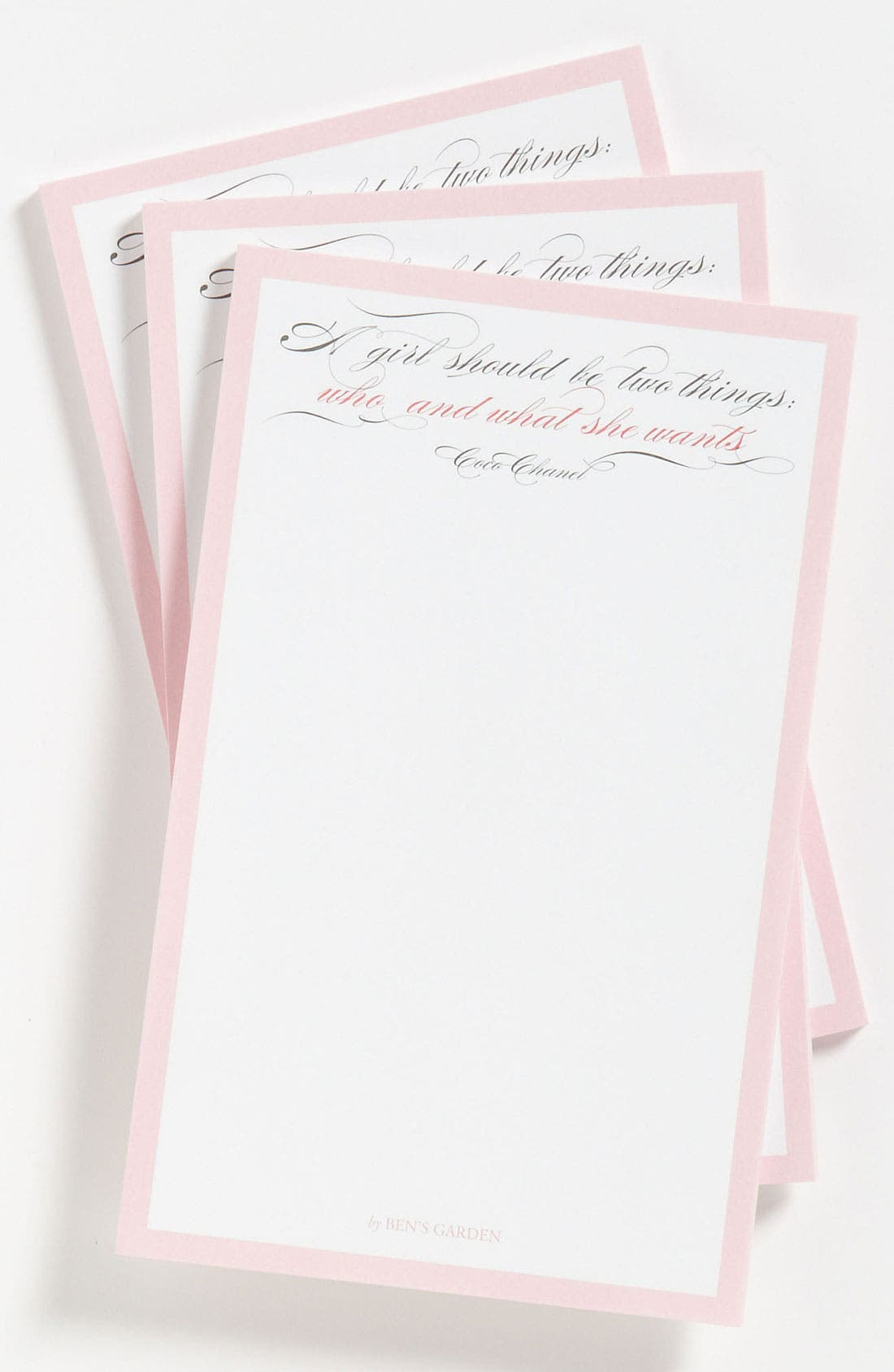 Alternate Image 1 Selected - Ben's Garden 'A Girl Should Be Two Things' Notepads (3-Pack)