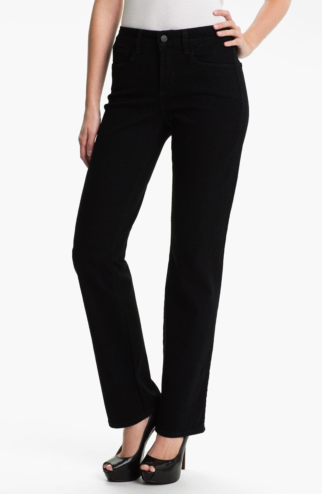 Main Image - NYDJ 'Marilyn' Embellished Straight Leg Stretch Jeans
