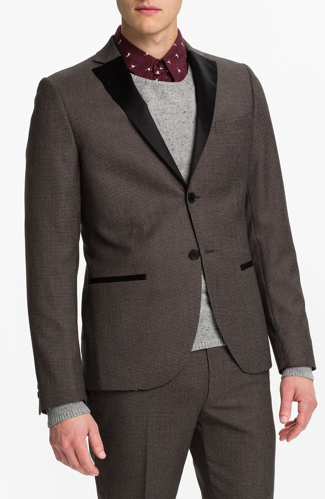 Alternate Image 1 Selected - Topman Micro Houndstooth Blazer