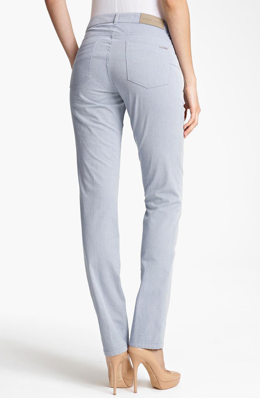 Alternate Image 2  - Fabiana Filippi Slim Stretch Jeans