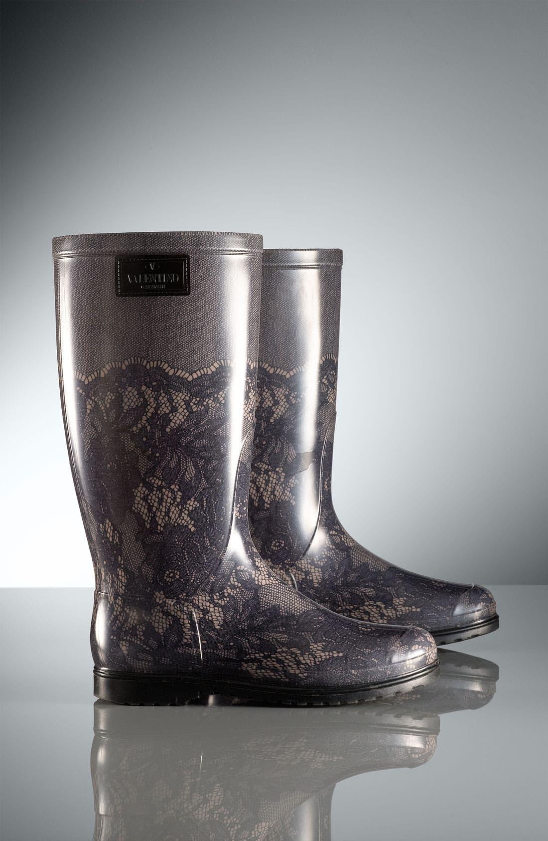 Alternate Image 4  - VALENTINO GARAVANI Lace Print Rain Boot (Women)