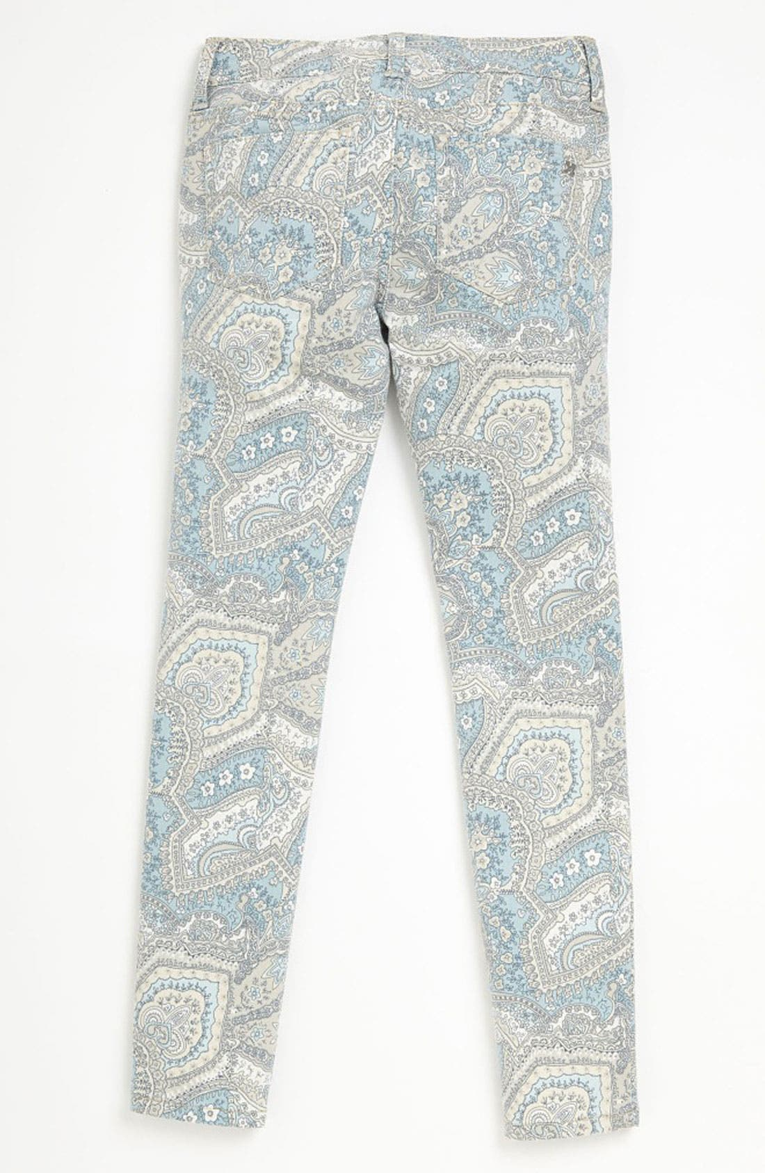 Alternate Image 1 Selected - Joe's Print Denim Jeggings (Little Girls)