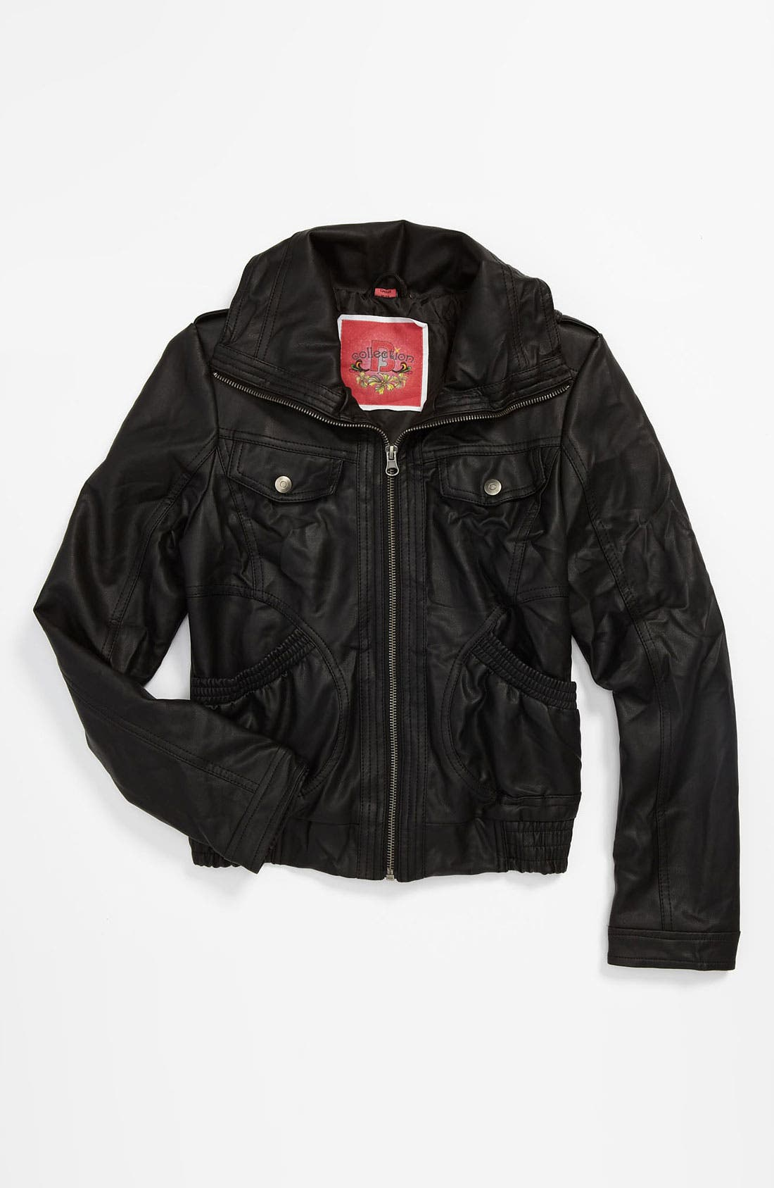 Alternate Image 1 Selected - Collection B Faux Leather Jacket (Big Girls)