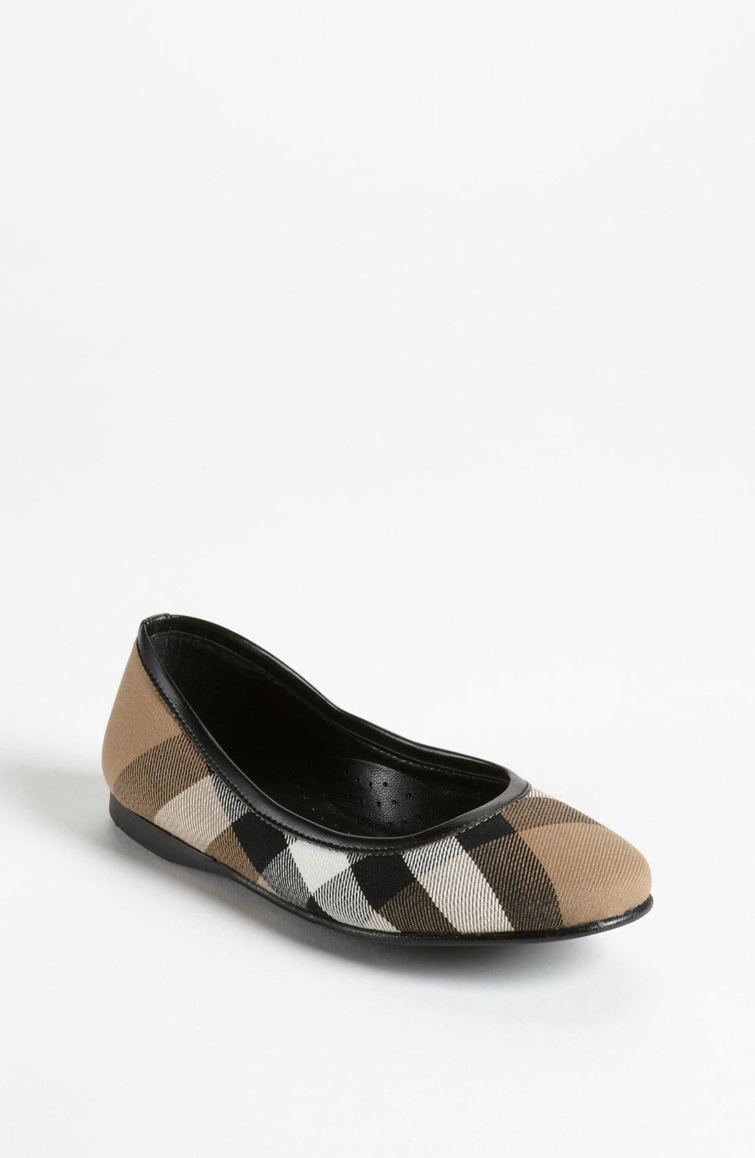 Alternate Image 1 Selected - Burberry 'Adelle' Flat (Walker, Toddler, Little Kid & Big Kid)