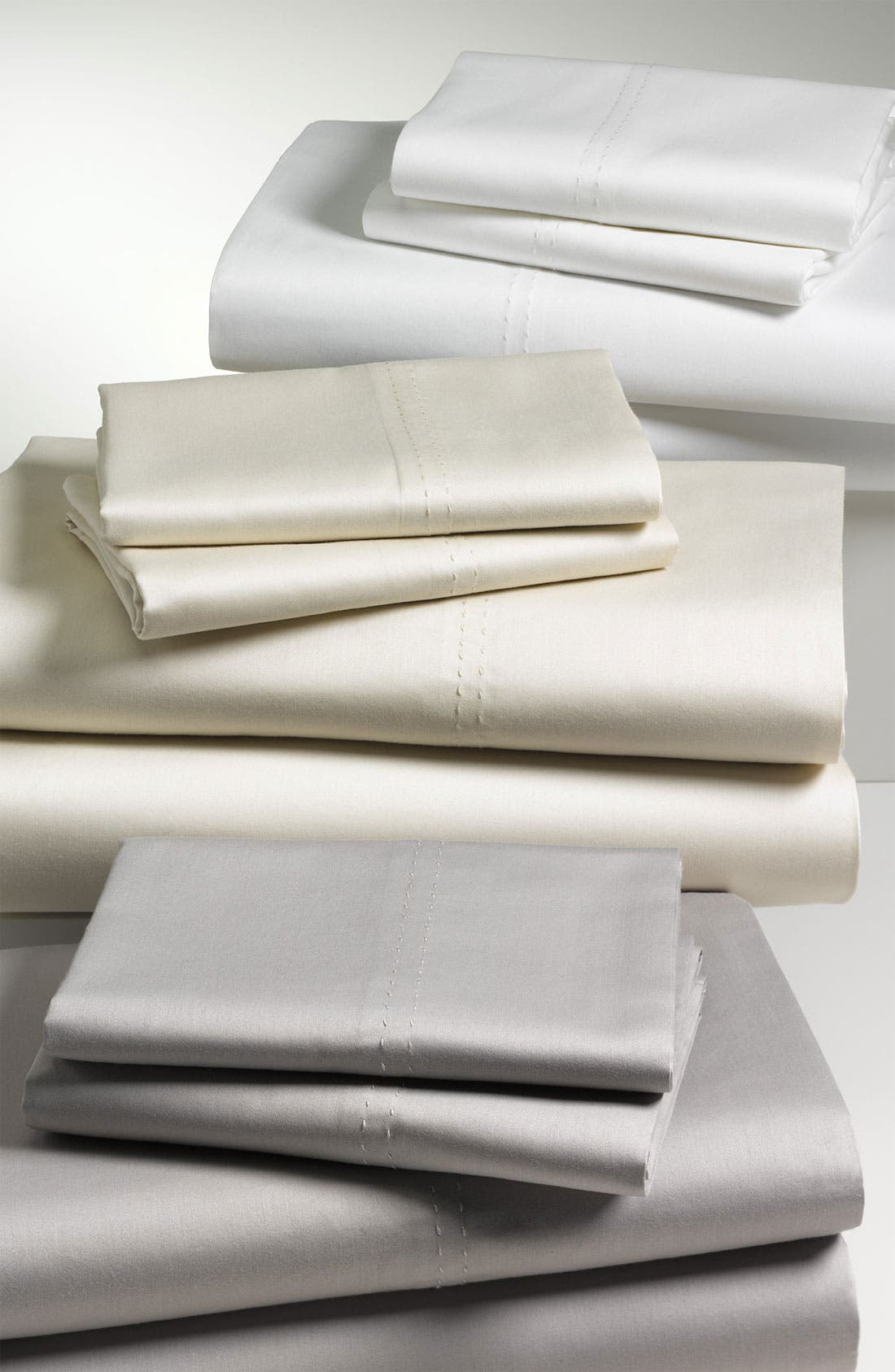 Alternate Image 2  - Nordstrom at Home 300 Thread Count Sateen Fitted Sheet