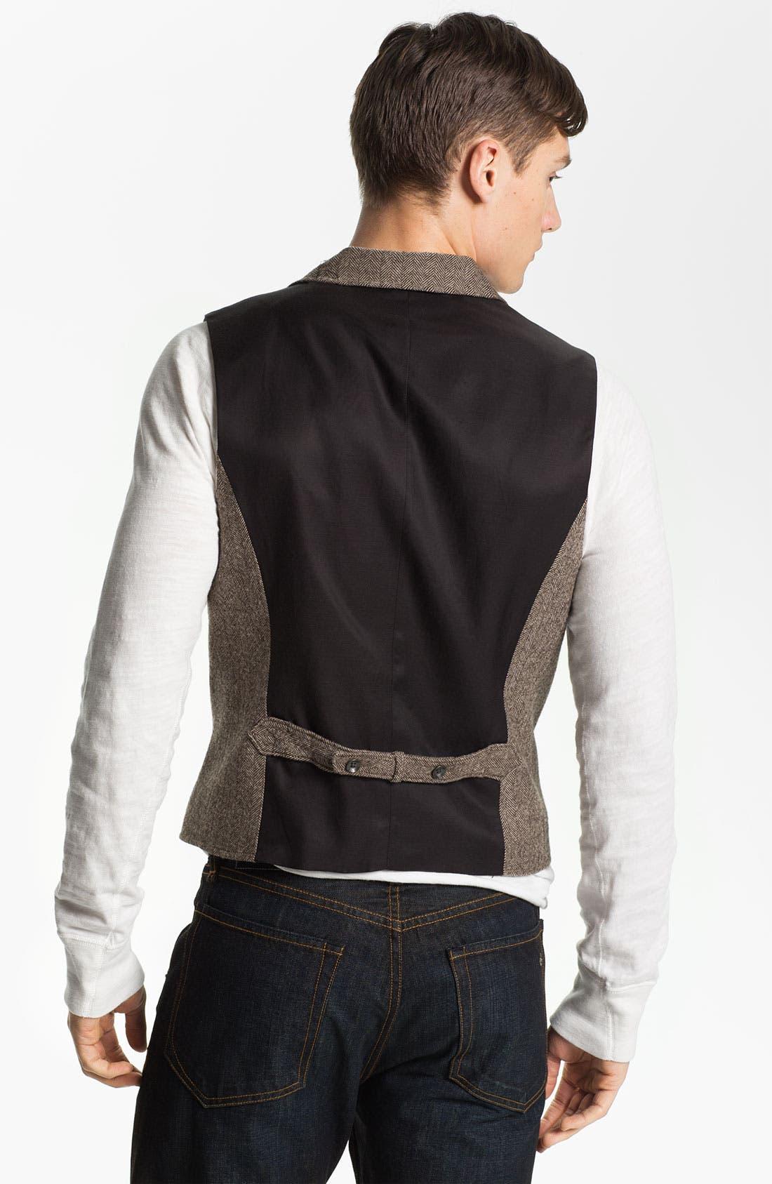 Alternate Image 2  - rag & bone 'Albers' Wool Herringbone Waistcoat