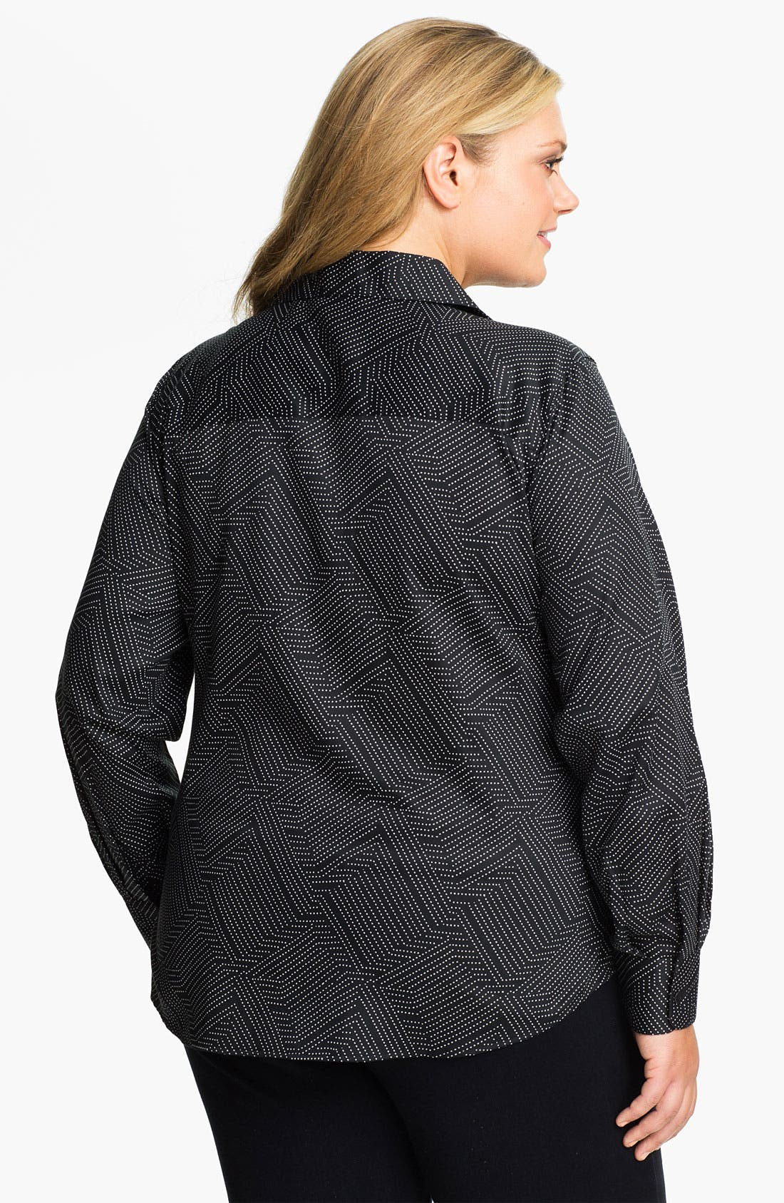 Alternate Image 2  - Foxcroft Geometric Dot Shaped Shirt (Plus)