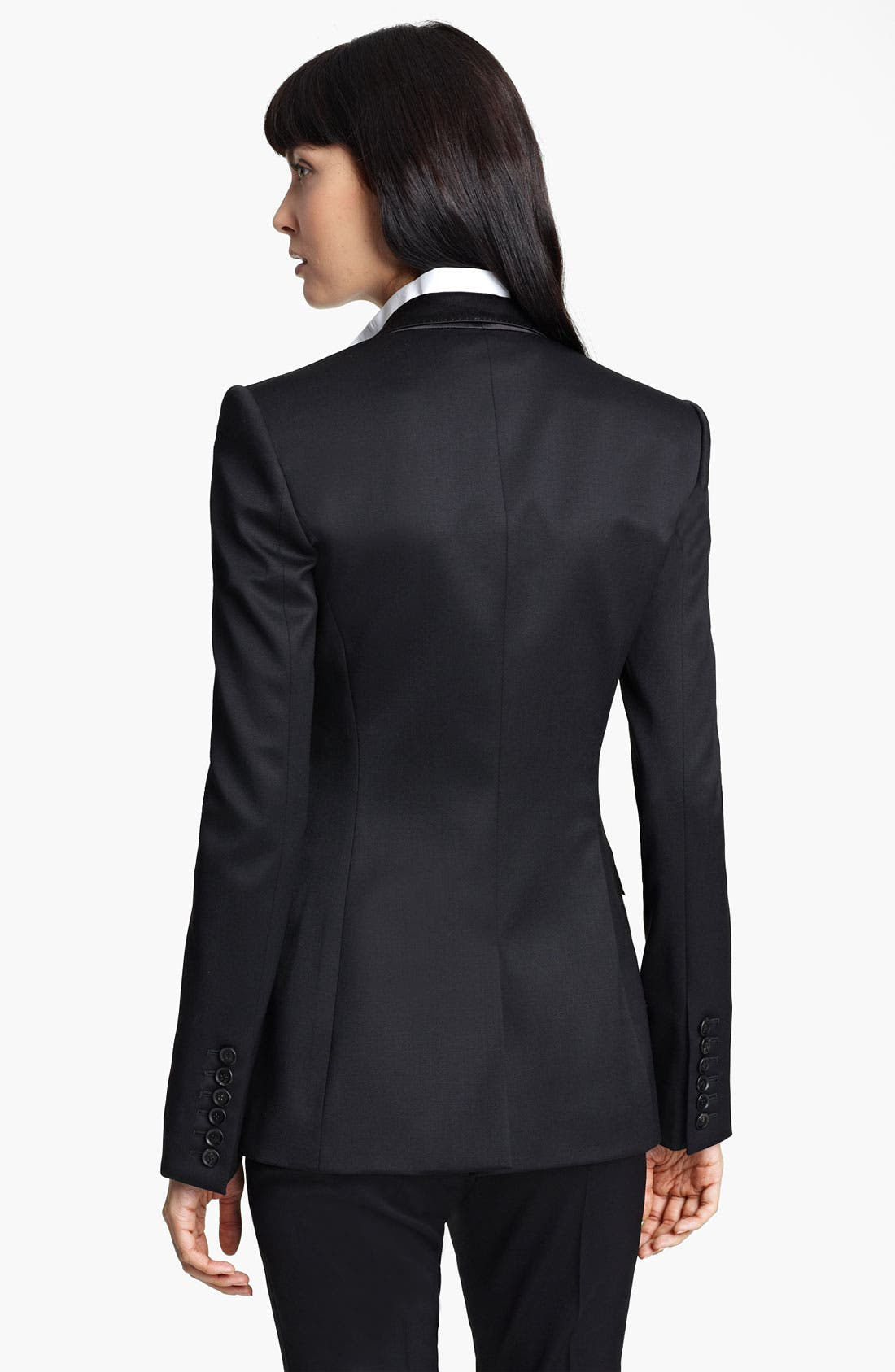 Alternate Image 2  - Burberry Prorsum Stretch Wool Tuxedo Jacket