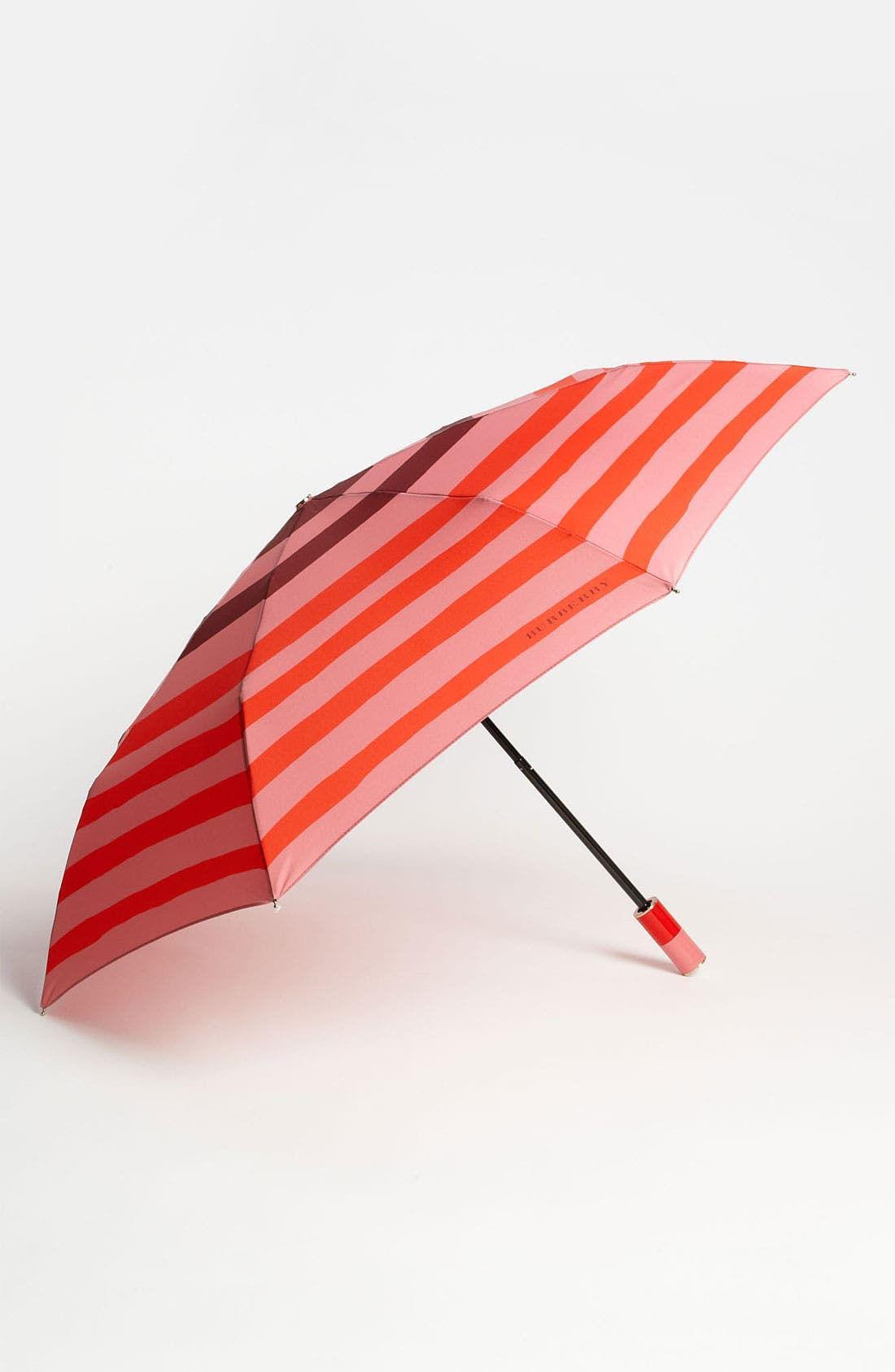 Main Image - Burberry Trafalgar Stripe Folding Umbrella