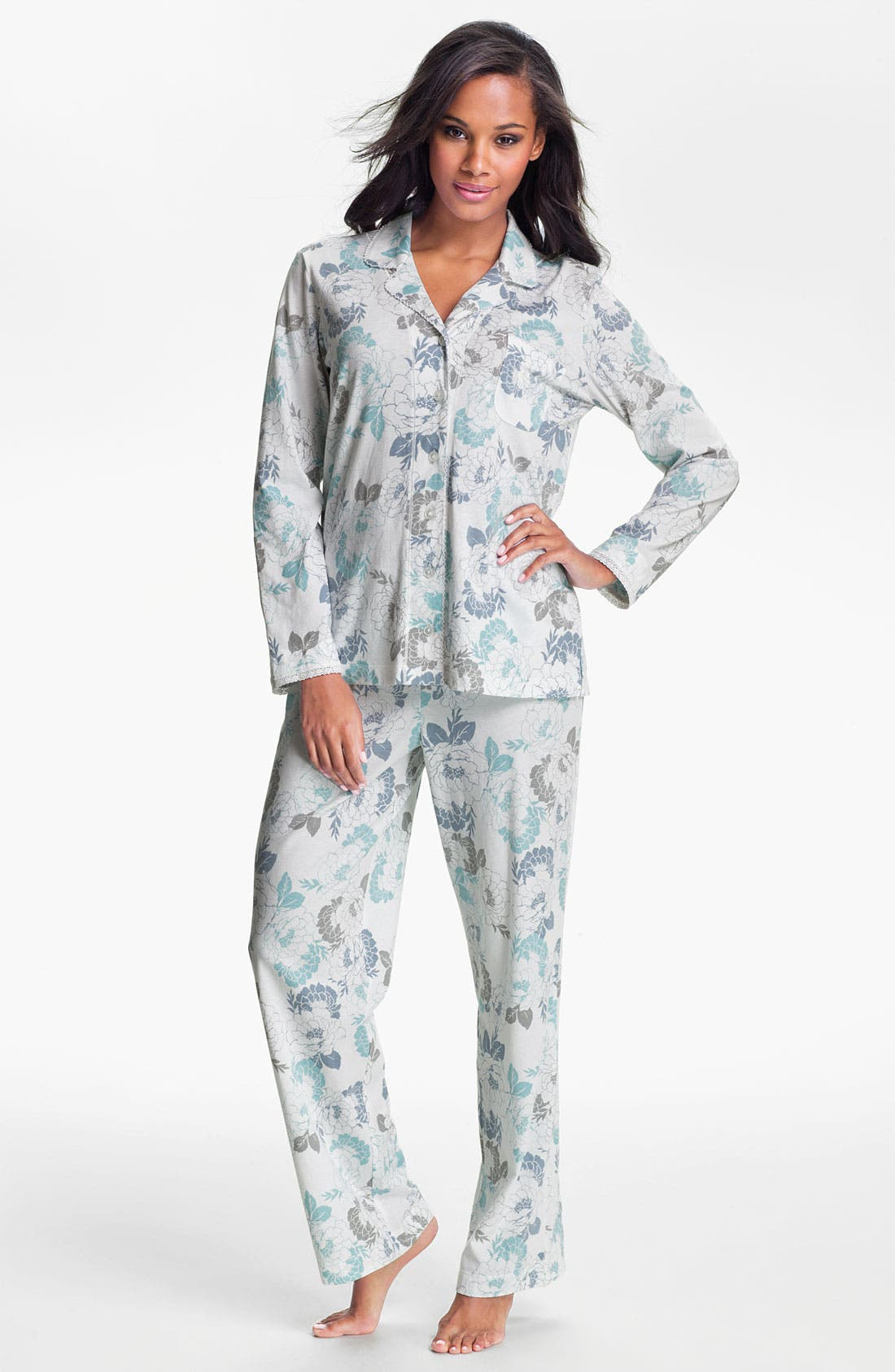 Alternate Image 1 Selected - Carole Hochman Designs 'Airbrushed Floral' Pajamas