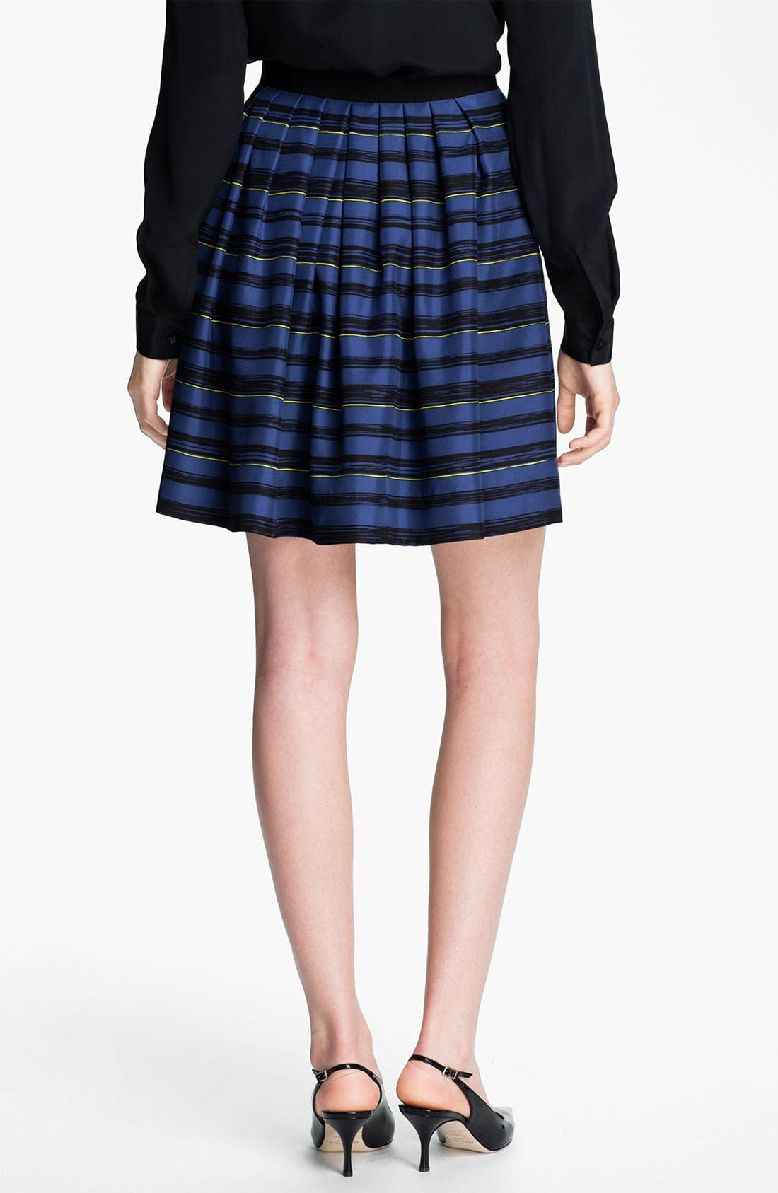 Alternate Image 2  - Miss Wu 'Lush' Stripe Silk Twill Skirt (Nordstrom Exclusive)