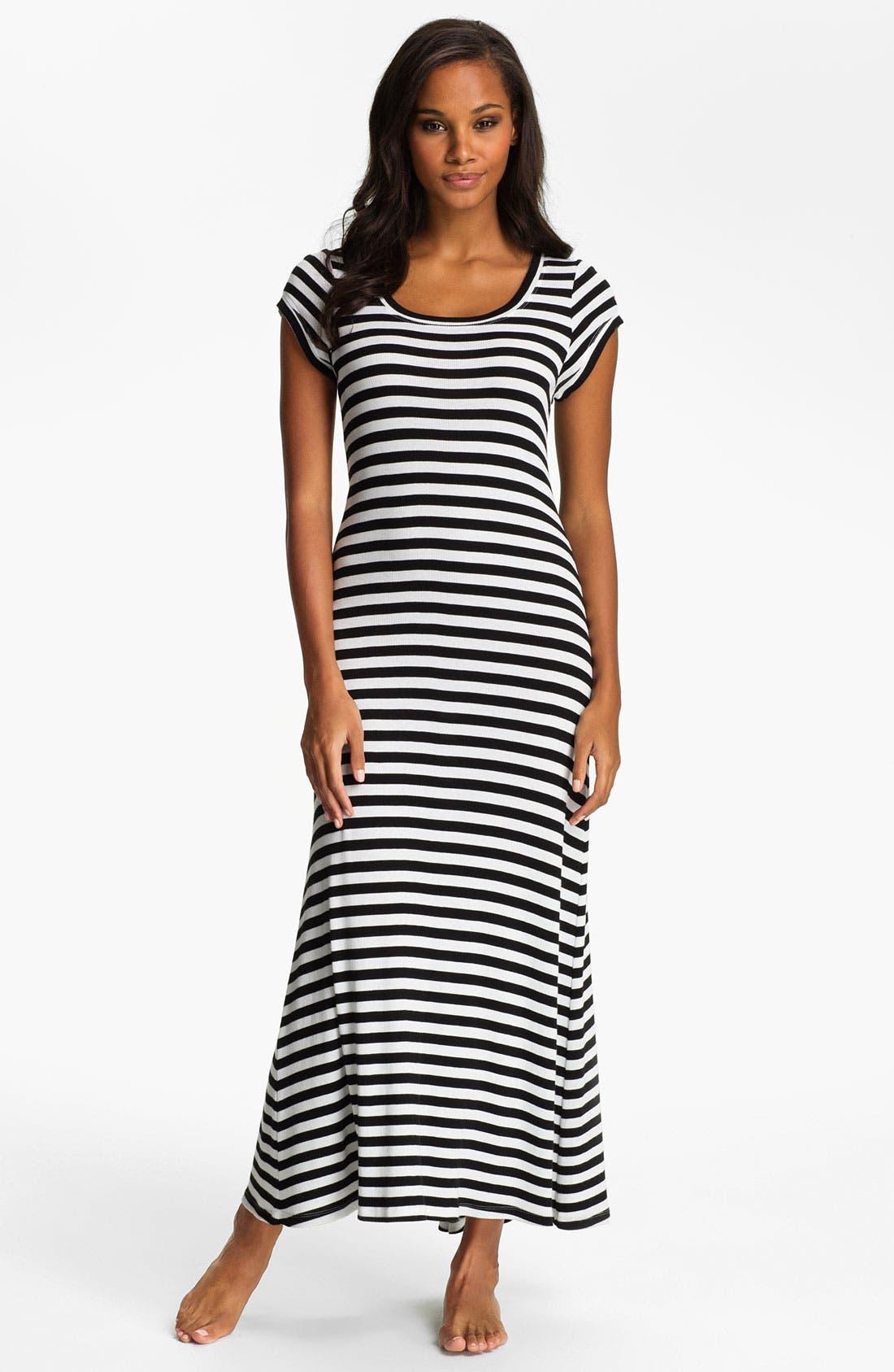 Main Image - Lauren Ralph Lauren Stripe Knit Maxi Gown