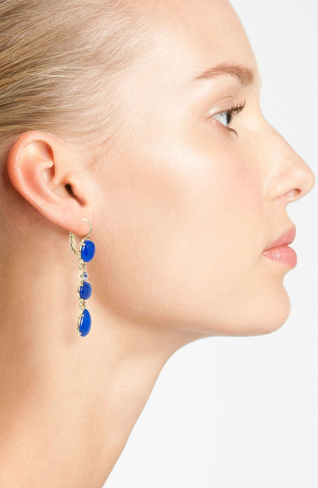 Alternate Image 2  - kate spade new york 'moonlit way' linear earrings
