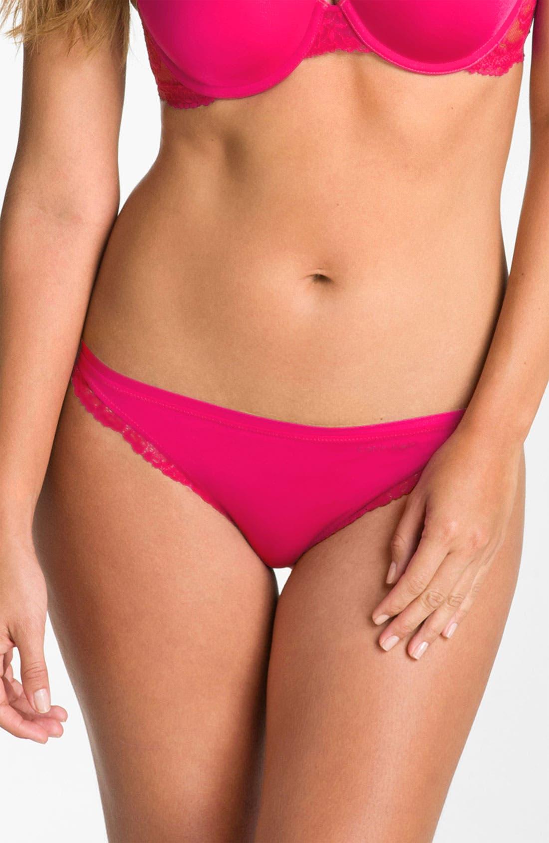 Main Image - Calvin Klein 'Seductive Comfort' Lace Trim Bikini