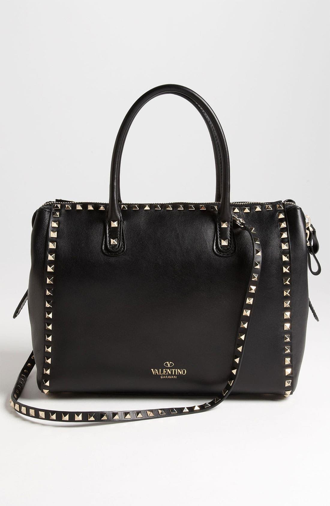 Alternate Image 4  - Valentino 'Rockstud - Small' Leather Handbag