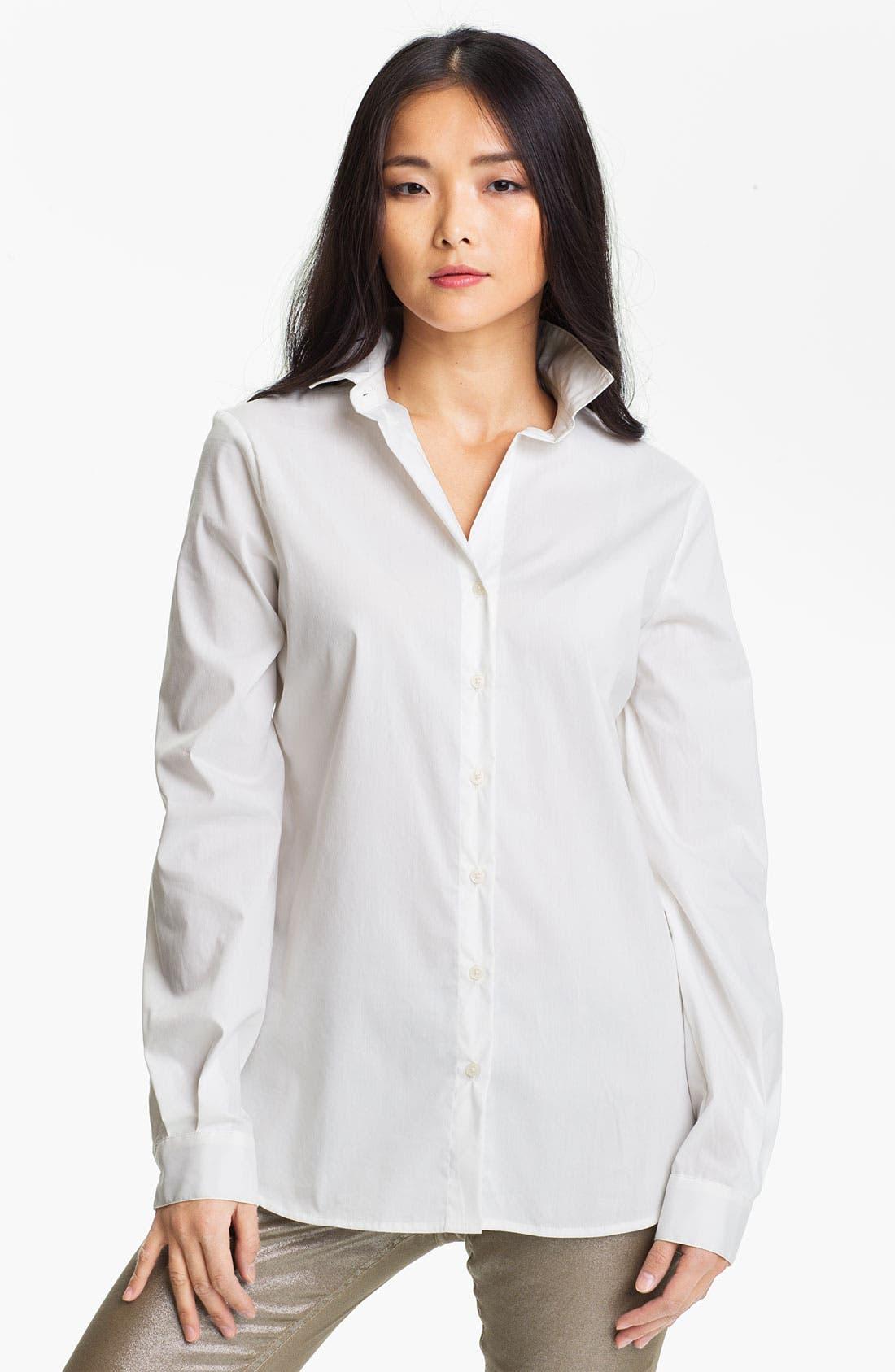 Alternate Image 1 Selected - Anne Klein Poplin Shirt