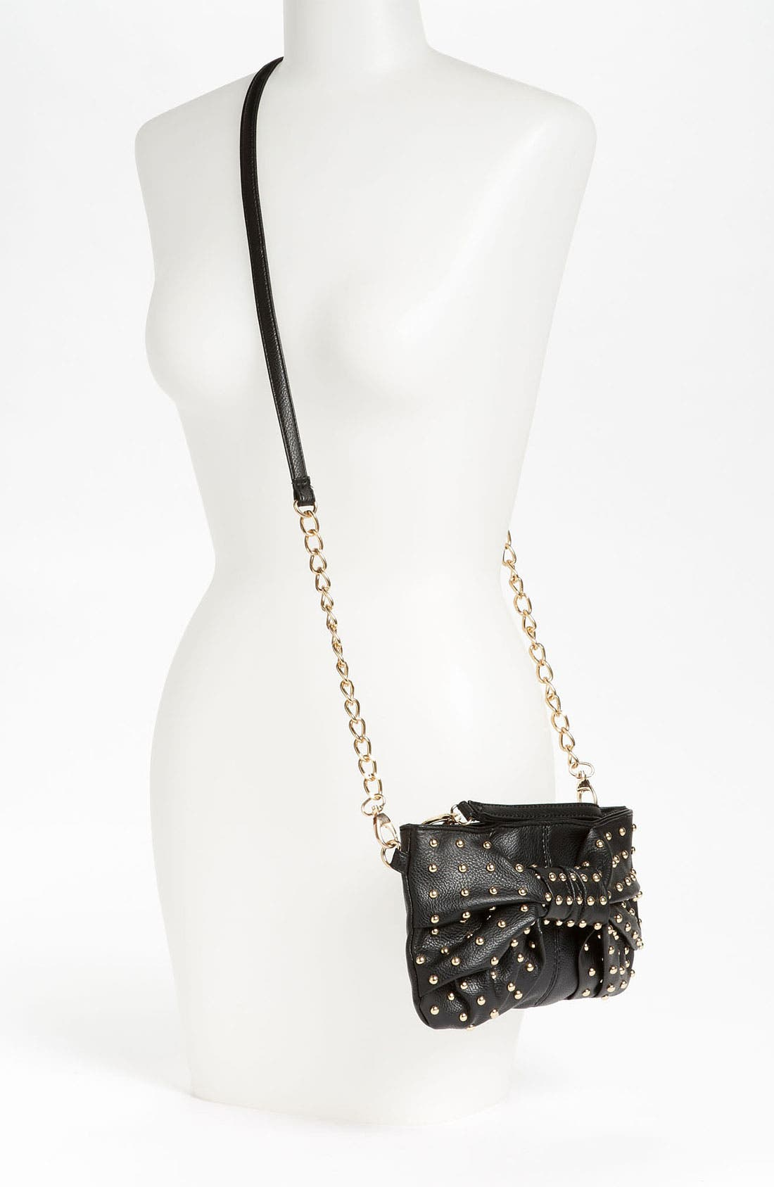 Alternate Image 2  - Cesca Studded Bow Convertible Crossbody Bag