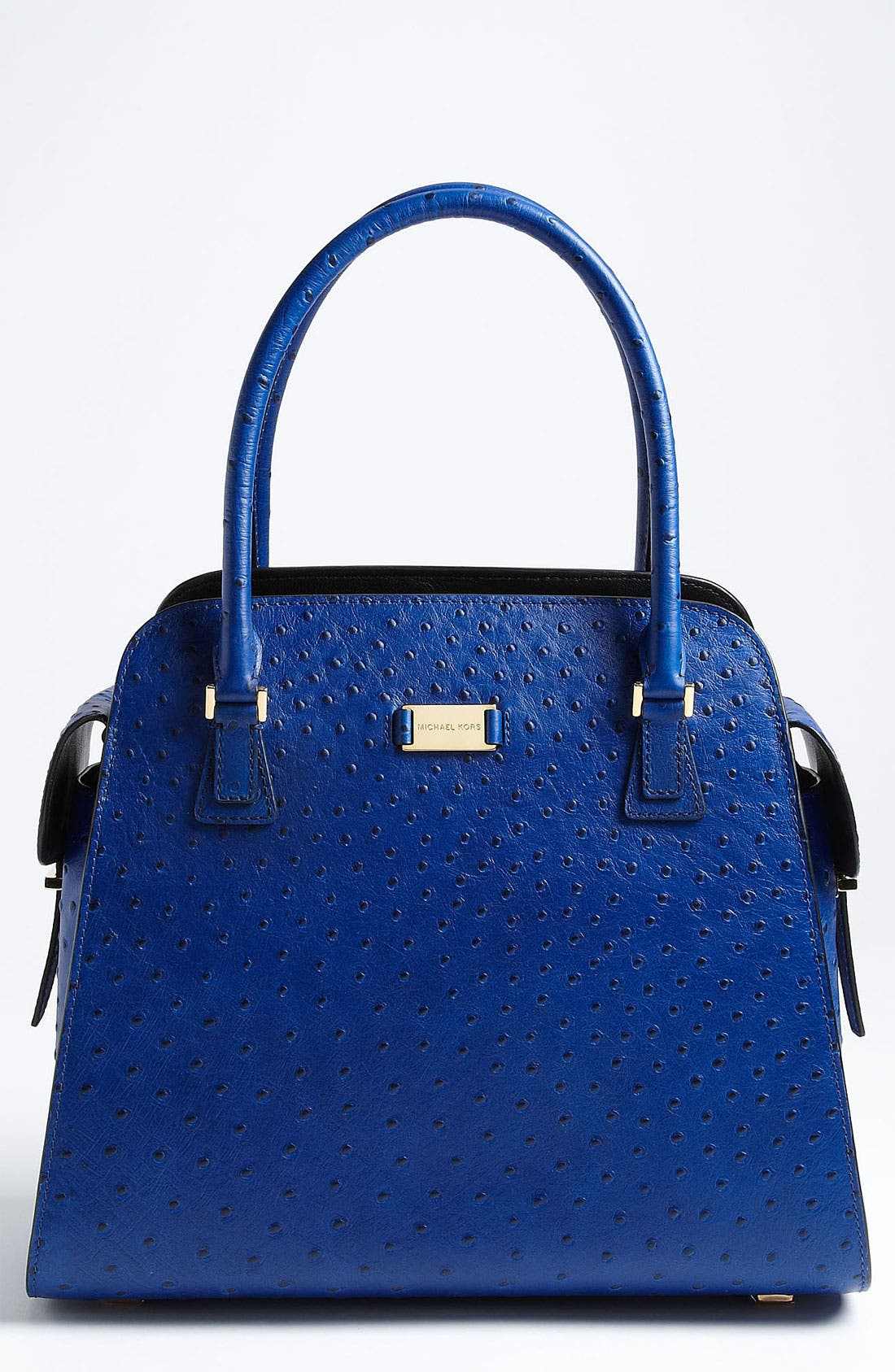Alternate Image 1 Selected - Michael Kors 'Gia' Ostrich Embossed Satchel
