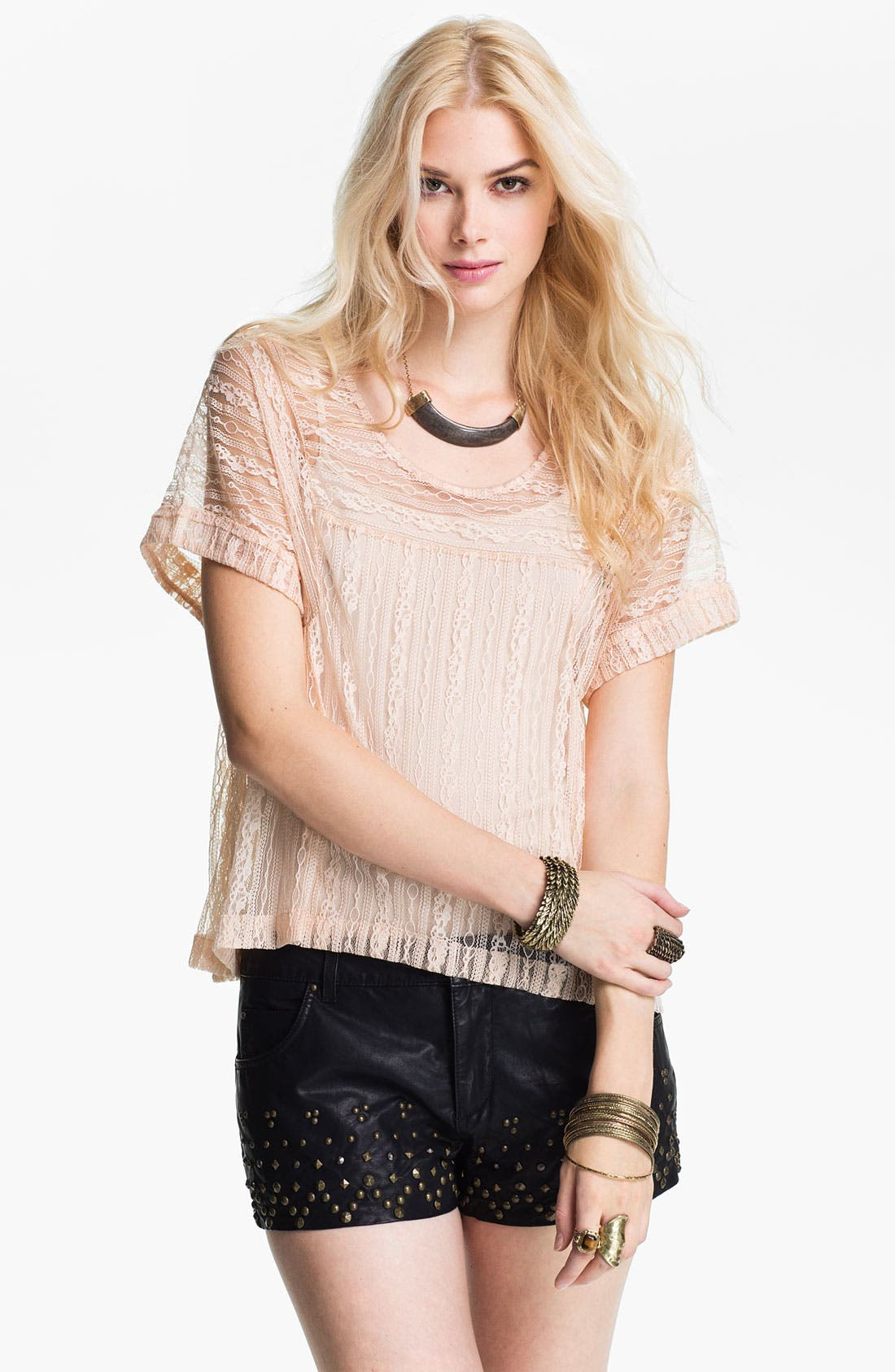 Alternate Image 1 Selected - Free People Boxy Lace Top