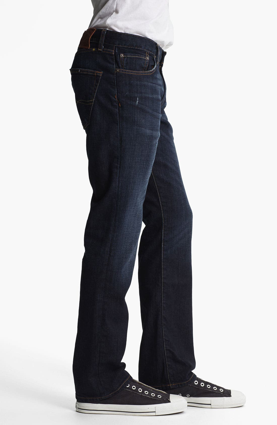 Alternate Image 3  - Lucky Brand '221 Original' Straight Leg Jeans (Dark Kenfield)