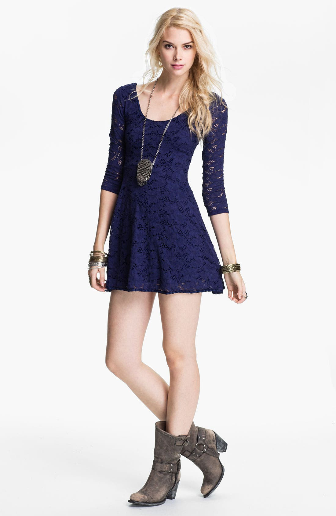 Alternate Image 1 Selected - Free People Lace Minidress