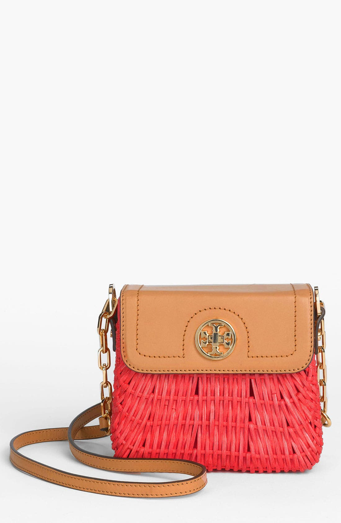 Alternate Image 1 Selected - Tory Burch 'Mini' Lacquered Rattan Crossbody Bag