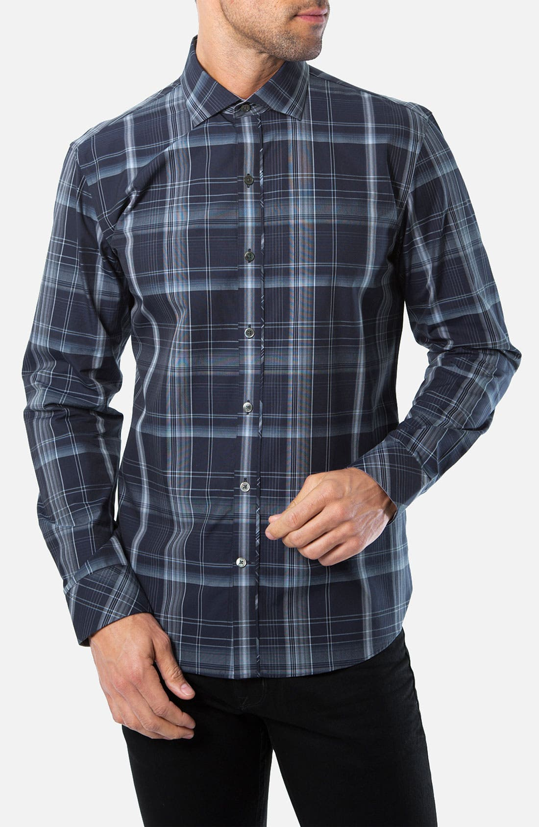 Main Image - Kenson 'Across the Pacific' Plaid Woven Shirt