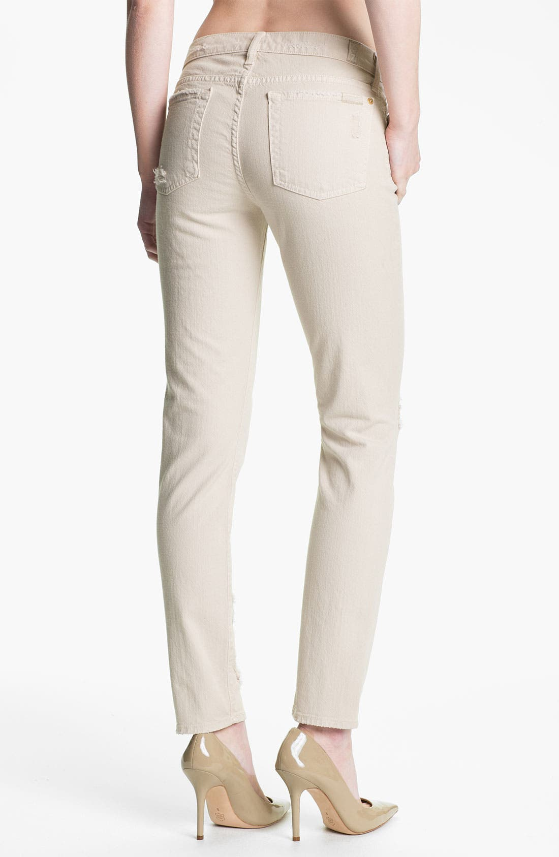 Alternate Image 2  - 7 For All Mankind® 'The Slim Cigarette' Stretch Jeans (Sand Dune)