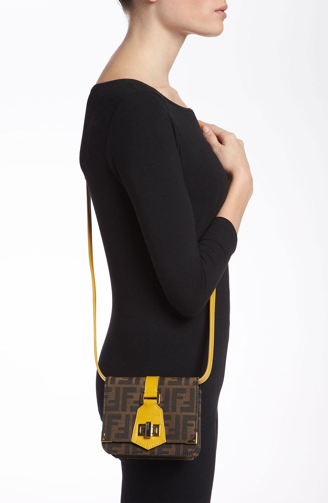 Alternate Image 2  - Fendi 'Tevere Zucca - Mini' Crossbody Bag