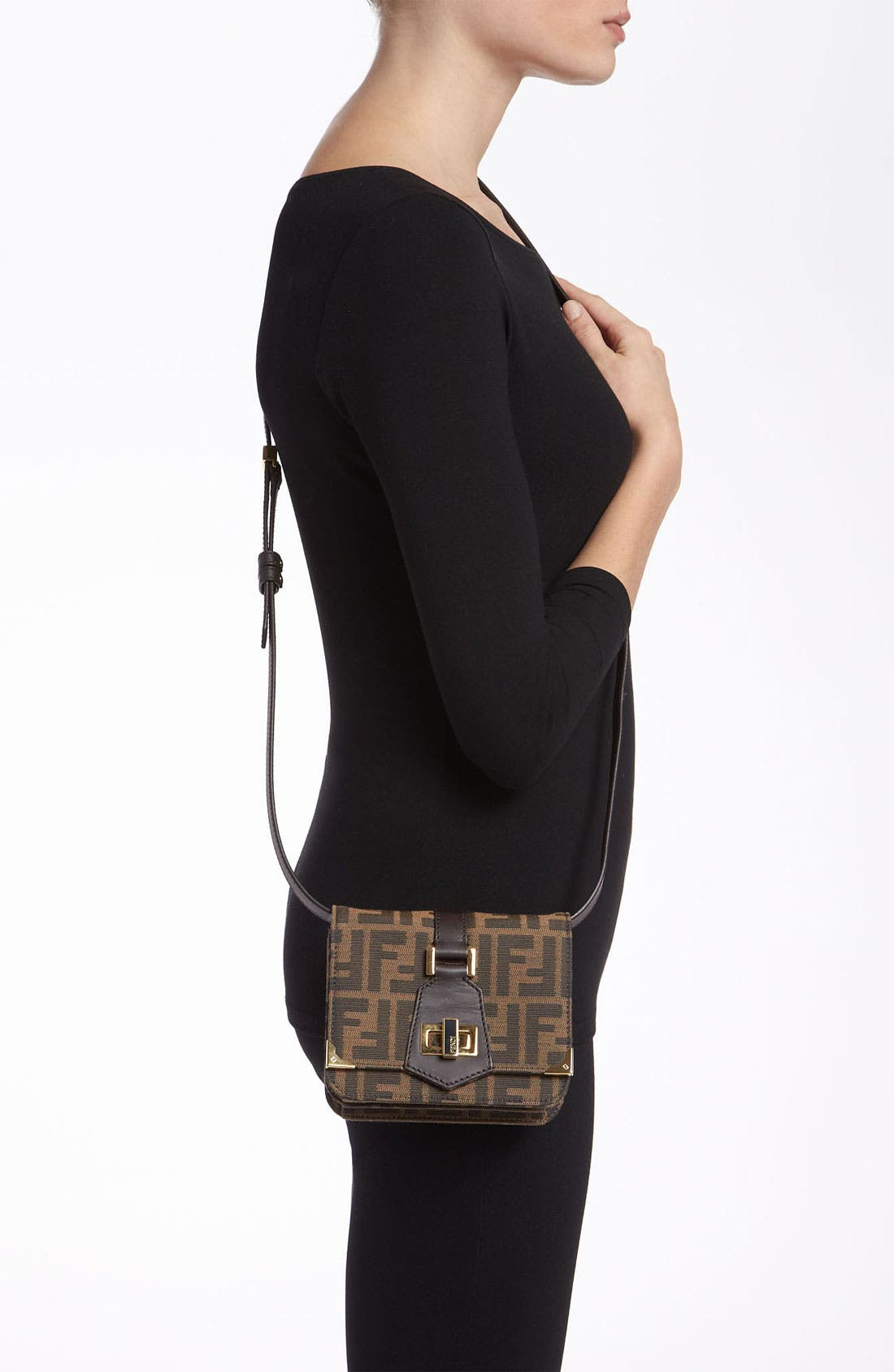 Alternate Image 2  - Fendi 'Tevere Zucca - Mini' Crossbody Bag