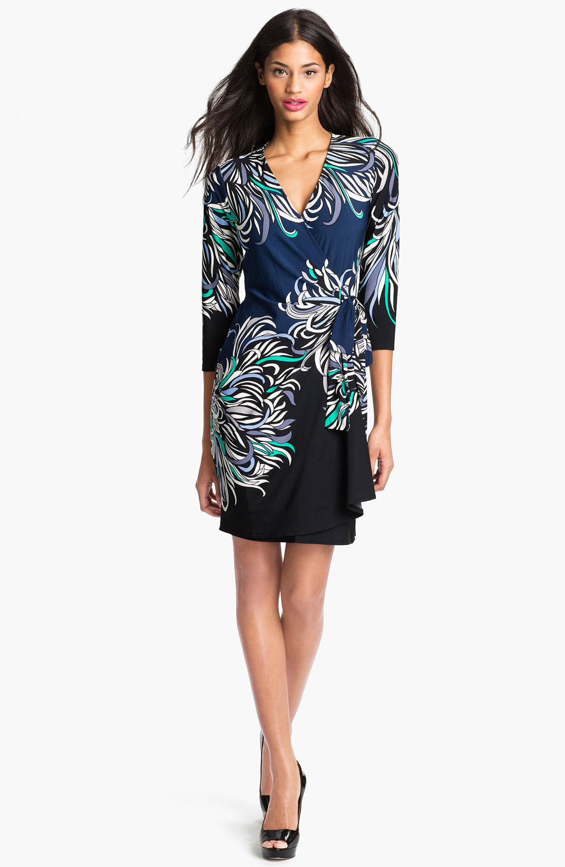 Main Image - Donna Morgan Print Faux Wrap Dress
