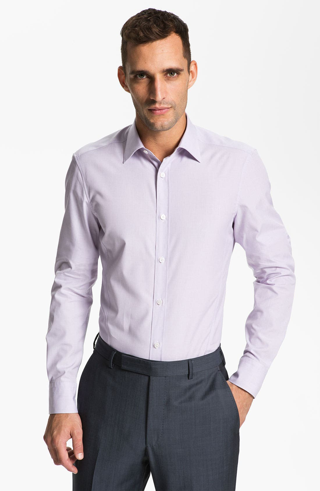 Alternate Image 1 Selected - Z Zegna Extra Trim Fit Dress Shirt