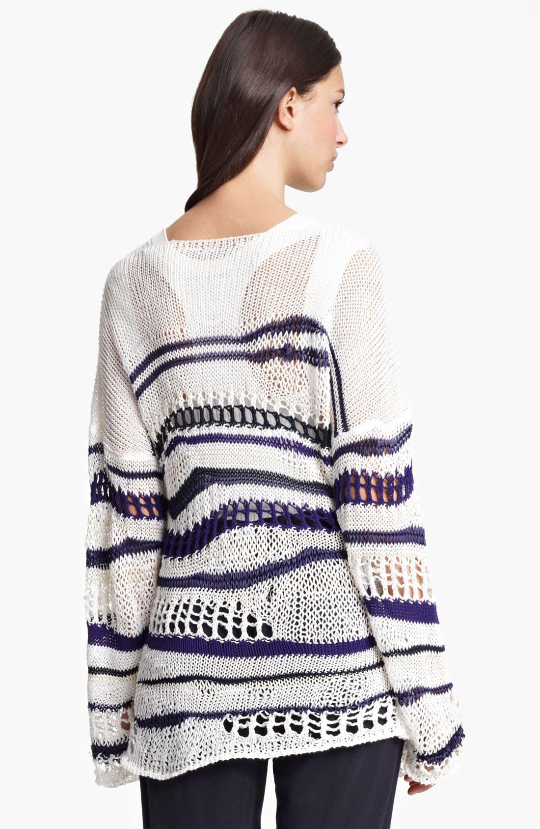 Alternate Image 2  - Jean Paul Gaultier Fuzzi Stripe Open Knit Sweater