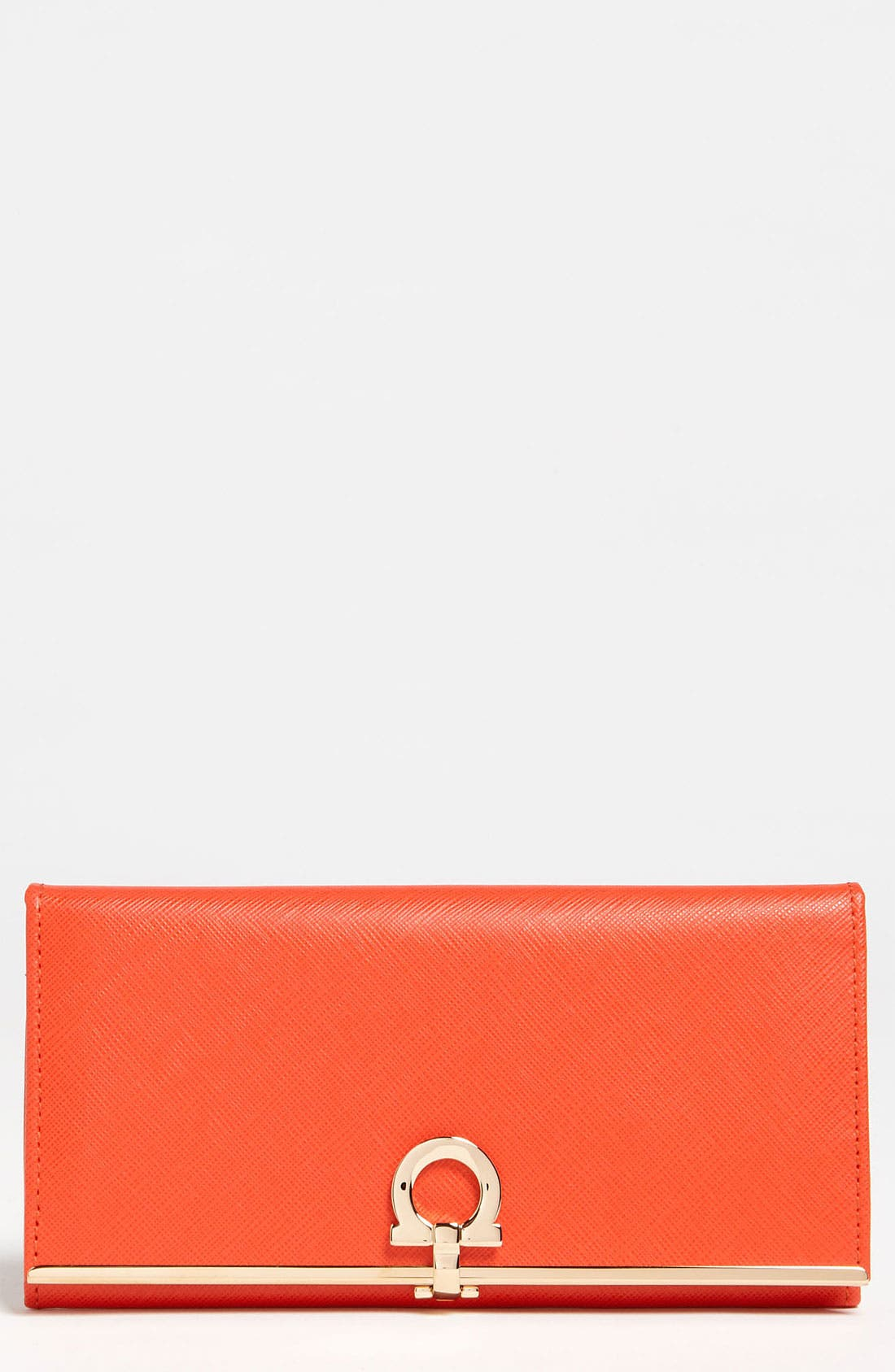 Alternate Image 1 Selected - Salvatore Ferragamo 'Gancini Icona' Saffiano Calfskin Wallet
